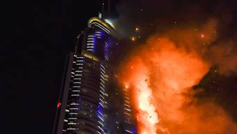 Grossbrand in Wolkenkratzer in Dubai