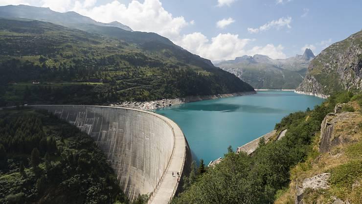 Der Zervreila-Stausee oberhalb der Gemeinde Vals: Hier her soll das Wasser aus dem Lugnez geleitet werden.