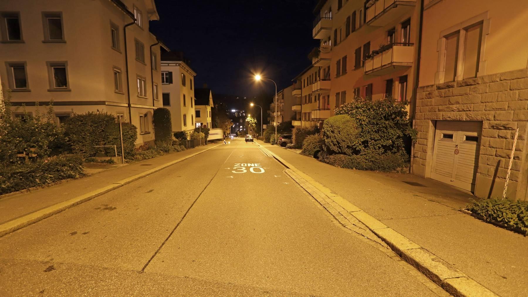 Unfallstelle Buchentalstrasse
