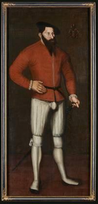 Die Mode für das schöne Geschlecht zielte im Mittelalter auf das Geschlecht: Herrenporträt Matthäus Knecht.  1548.