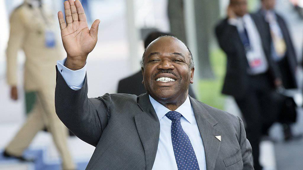 Gabuns alter und neuer Präsident Ali Bongo Ondimba bei einem Besuch in Den Haag, 2014. (Archivbild)