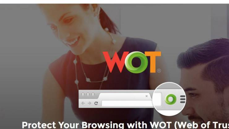 """Die Browser-Erweiterung """"Web of Trust"""" zeigt an, ob man Webseiten vertrauen kann - doch sie sammelt angeblich auch Nutzerdaten. (Screenshot)"""