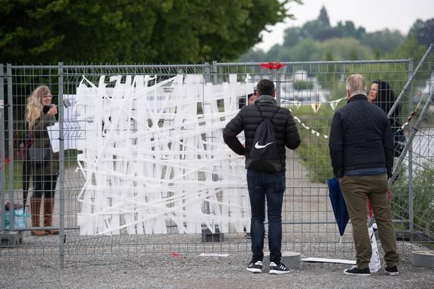 Abgesperrte Grenze auf Klein Venedig. Reportage von der Grenze zwischen der Schweiz und Deutschland während der Coronakrise, 13. Mai 2020.