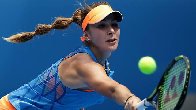 Belinda Bencic bei ihrer Zweitrundenpartie an den Australien Open