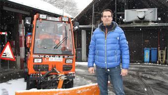 Patrick Schärer ist für weiteren Schnee gewappnet.