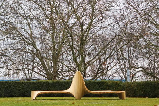 Skulptur in Lausanne.