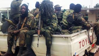 Regierungstruppen des Kongos auf dem Weg zu den Kämpfen mit den Rebellen (Archivbild).