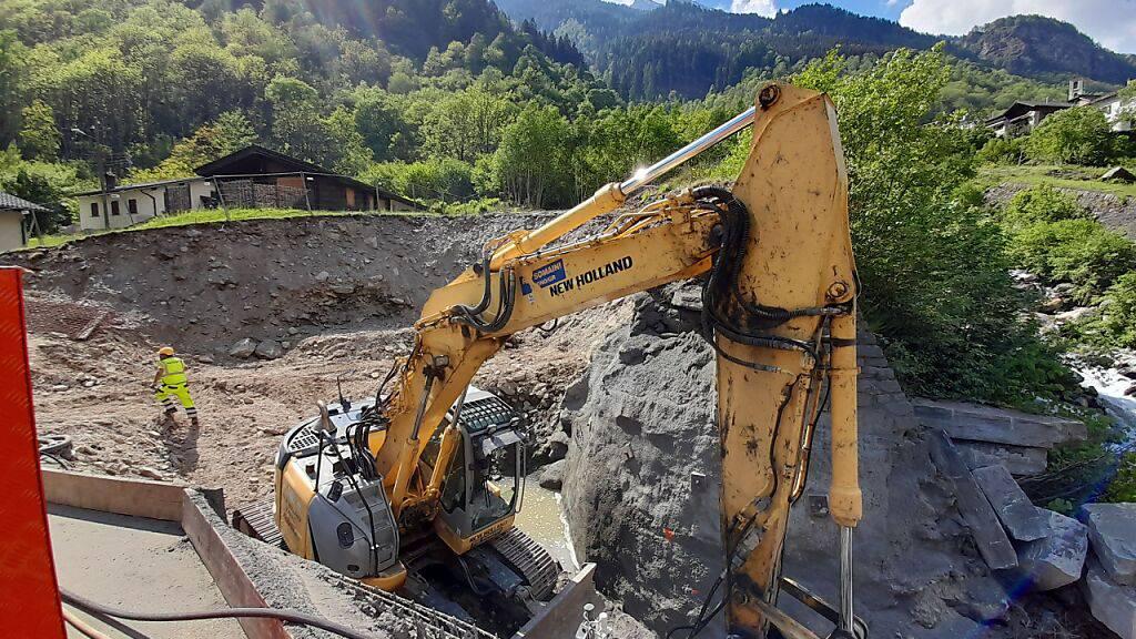 Baustart für Wasserkraftwerk Arvigo in Calanca