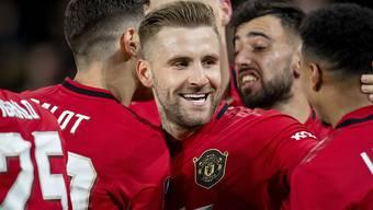Brachte Manchester United mit seinem 1:0 auf Kurs: Luke Shaw