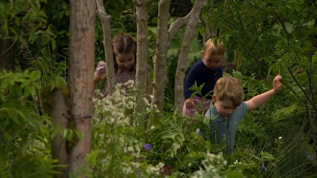 «Geht raus und spielt!» Mini-Royals erkunden paradiesischen Garten
