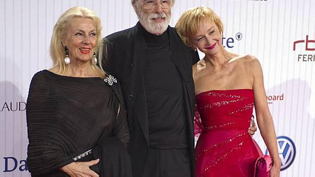 Regisseur Michael Haneke, Ehefrau Susanne (l.) und Schauspielerin Susanne Lothar