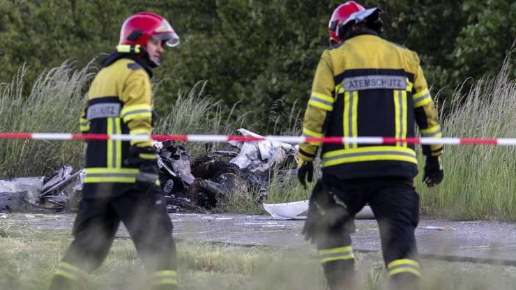 Die Feuerwehr konnte den Brand rasch löschen. Augenzeugen berichteten von einem Feuerball.