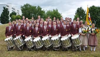 Sorgten einmal mehr für eine Spitzenleistung: Der Tambourenverein Laupersdorf-Thal mit 2 Frauen und 36 Männern