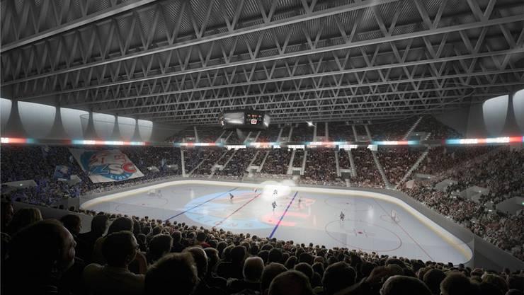 So soll das «Theatre of Dreams» dereinst aussehen. In der Arena sollen ab 2022 die Spiele der ZSC Lions ausgetragen werden.