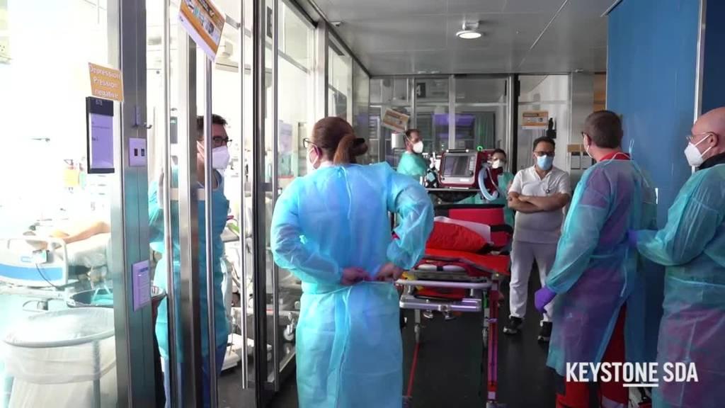 Verlegung von Covid-Patienten aus der Romandie in die Deutschschweizer Spitäler