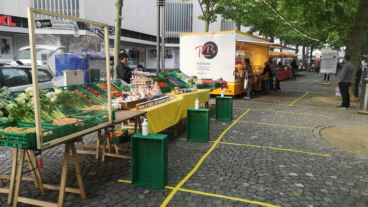 In Aarau ist erstmals wieder Markt.