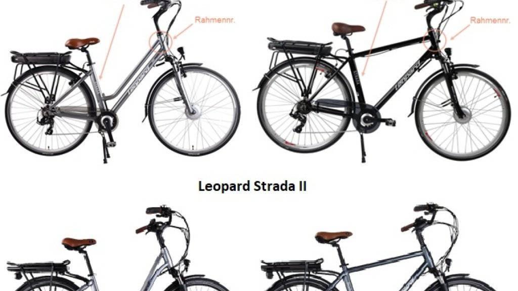 Bei E-Bike-Modellen «Leopard Strada» und «Leopard Strada II» können sich Schrauben am Velolenker lösen. Deshalb tauscht Coop Bau+Hobby die entsprechenden Lenkvorrichtungen beim Kunden zu Hause aus.