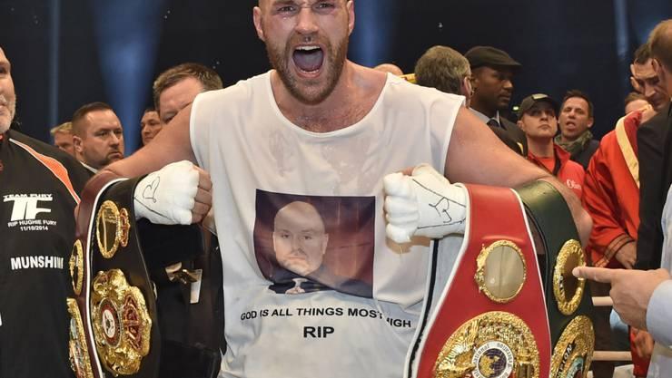 Tyson Fury nach seinem Sieg über Wladimir Klitschko im April 2016