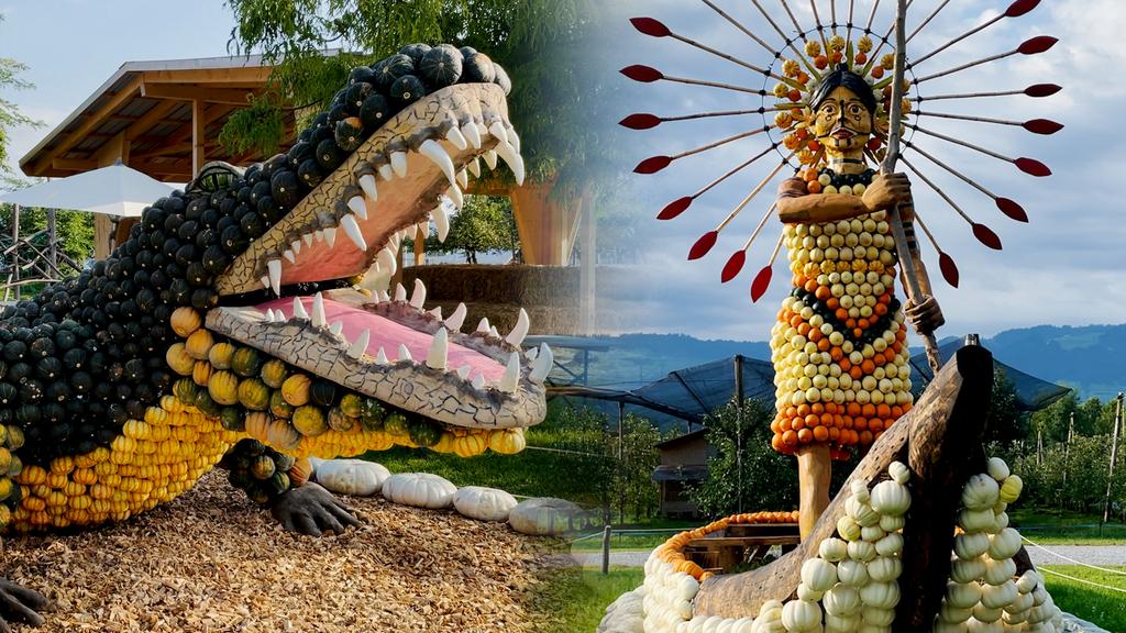 Balu, Elefant und Papagei: So eindrücklich ist diese Kürbisausstellung