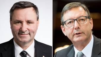 Werner Salzmann, SVP, und Josef Dittli, FDP (von links).
