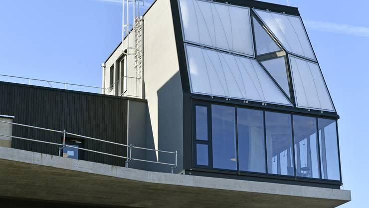 """Am Mittwoch wurde das """"DFAB House"""" am """"Nest""""-Gebäude in Dübendorf ZH eröffnet."""