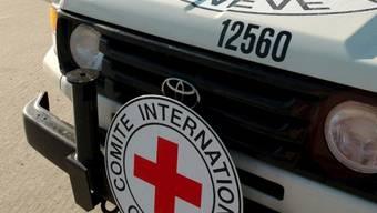 IKRK-Logos auf Fahrzeug
