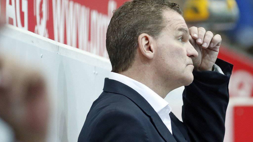 Sah erneut viele Gegentore: Klotens Trainer Sean Simpson