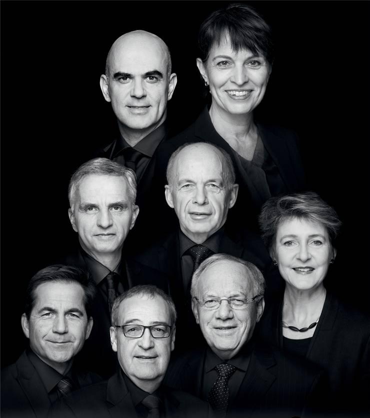 Das offizielle Bundesratsfoto 2017 mit Bundeskanzler.