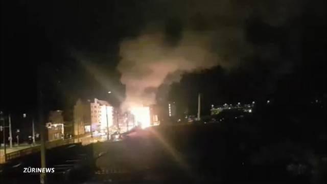 200`000 Franken Schaden nach Brandanschlag auf künftiges Polizeizentrum