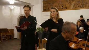 Bass-Sänger Tobias Schmid und Sopranistin Regina Meyer sangen «Gott, der Herr ist Sonn' und Schild» im Duett. Ly Vuong