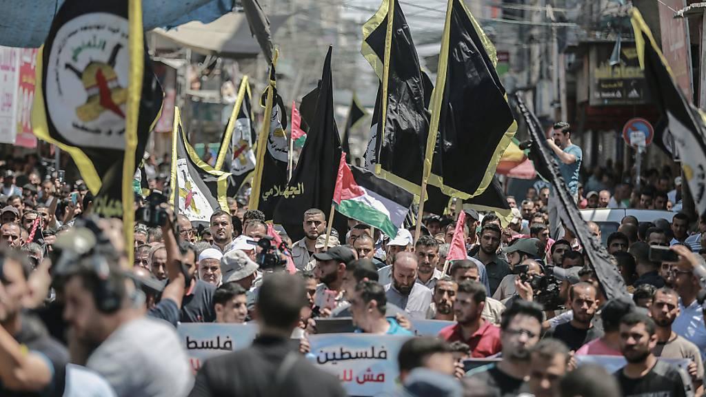 Palästinenser demonstrieren gegen Annäherung von Emiraten und Israel