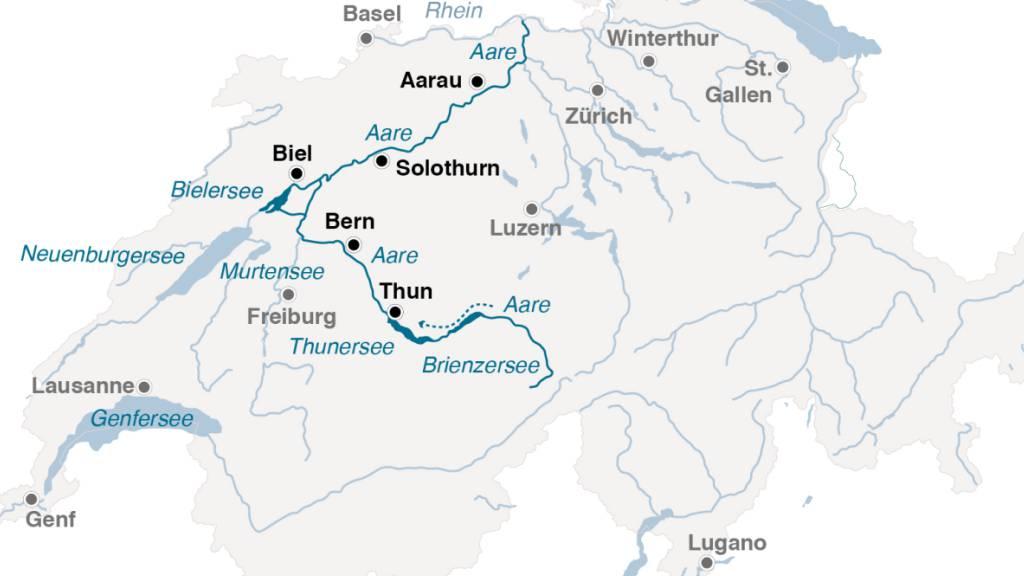 Das Wehr Port - Kernstück der Wasserregulierung am Jurasüdfuss