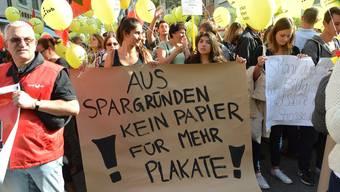 Die Regierung wird wegen ihrer Sparpolitik heftig kritisiert: Im September demonstrierten Staatsangestellte in Liestal.