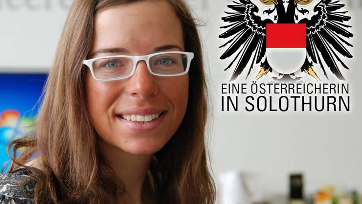 Marlies Czerny auf der Regionalredaktion der az Solothurner Zeitung.