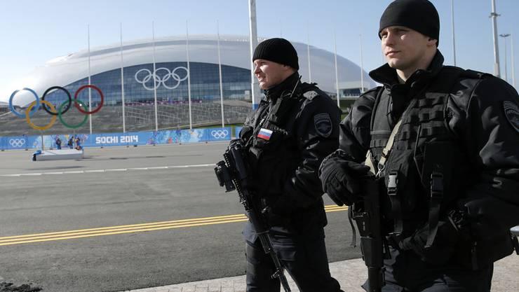 Sicherheitspersonal der Olympischen Spiele in Sotschi.