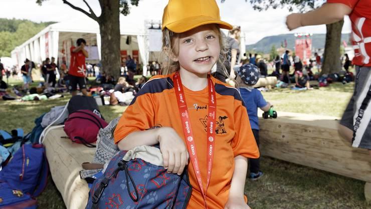 Umfrage am Eidgenössischen Turnfest in Aarau: Natalie (8) aus Lyss BE.