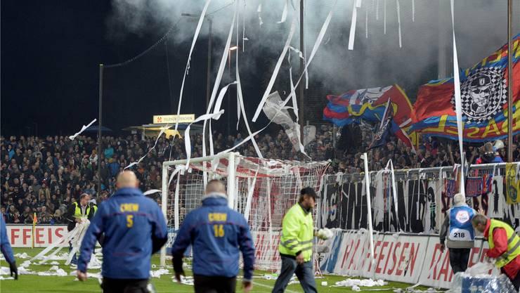 Beim FCA-Heimspiel gegen Basel in der Hinrunde sorgten die Zuschauer im ausverkauften Brügglifeld für eine tolle Kulisse.Keystone