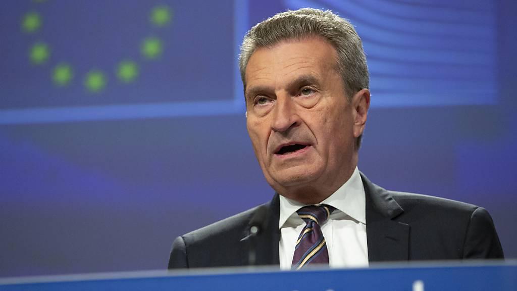 Oettinger: Keine Änderungen mehr bei Brexit-Vertrag