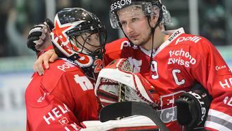 Enttäuschte Gesichter bei Red Ice Martigny nach zweiter Heimniederlage der Saison
