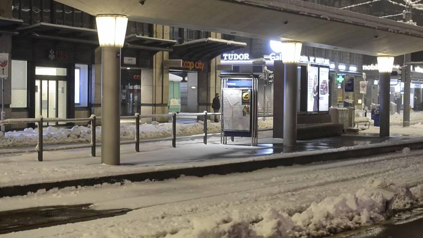 Chaos im öffentlichen Verkehr - in Zürich fahren keine Trams und Busse