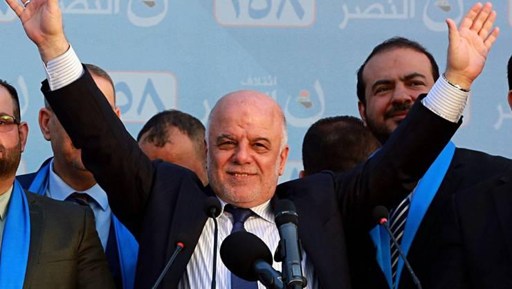Der bisherige Regierungschef im Irak, Haider al-Abadi, hat am Samstag nach wochenlangen Verhandlungen eine Allianz angekündigt. (Archivbild)