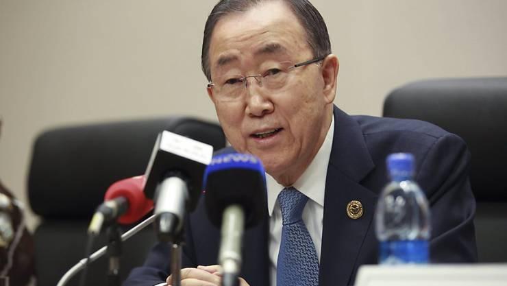 """UNO-Generalsekretär Ban Ki Moon kam in einem Gastbeitrag für die """"New York Times"""" auf seine umstrittenen Äusserungen zu Israels Siedlungspolitik zurück und verteidigte seine Worte. (Archivbild)"""
