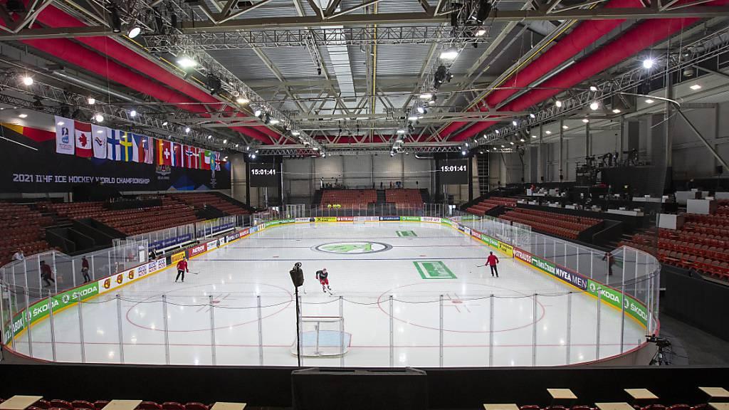 Das Olympic Sports Center, eines der zwei WM-Stadien in Riga