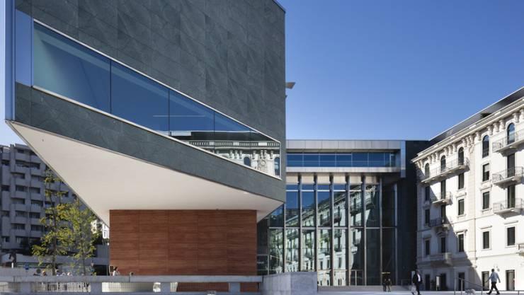 Das Kulturzentrum Lugano Arte e Cultura (LAC) auf der Piazza Bernardino Luini ist im September 2015 eröffnet worden (Archiv)