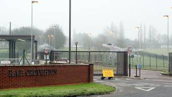 Der Ort der Unfalls: Der Luftwaffenstützpunkt RAF Croughton in der englischen Grafschaft Northamptonshire.