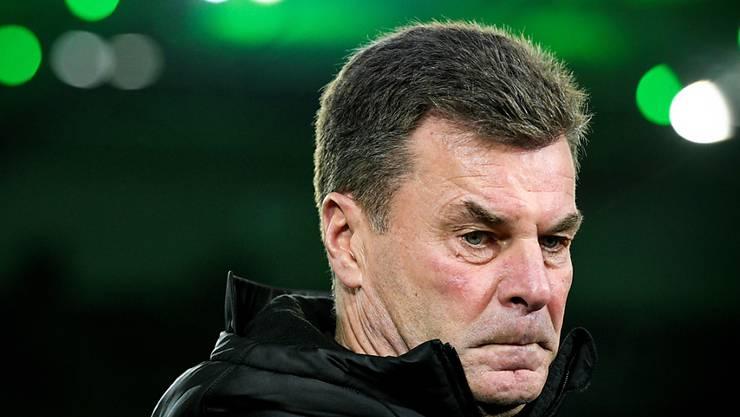 Dieter Hecking ist nur noch bis zum Ende der laufenden Saison Trainer von Borussia Mönchengladbach