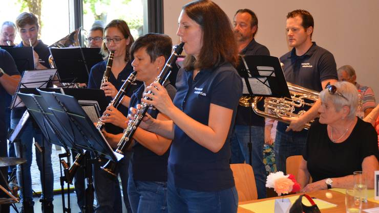 Jubilarenfeier mit Fischessen Harmoniemusik Rohrdorf in der Zähnteschüür in Oberrohrdorf