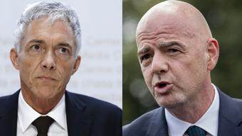 Wegen seinen Treffen mit Gianni Infantino droht Lauber nun ein Strafverfahren.