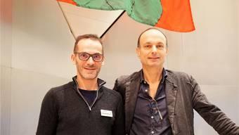 Gemeindepräsident Marco Genoni (r.) und Philippe Woodtli, Geschäftsführer, sprachen am Neujahrsempfang.