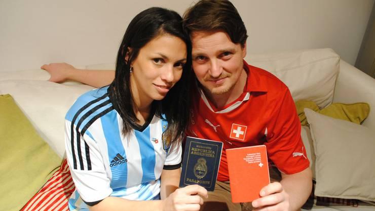 Zwei Länder, eine Liebe: Der ausgewanderte Wettinger Dominik Meier und seine Freundin Yamilia Lozano.